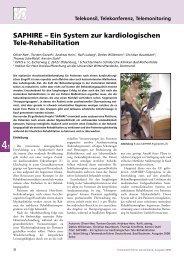 SAPHIRE – Ein System zur kardiologischen Tele-Rehabilitation