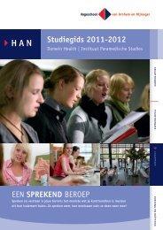 Studiegids 2011-2012 EEN SPREKEND BEROEP - Hogeschool van ...
