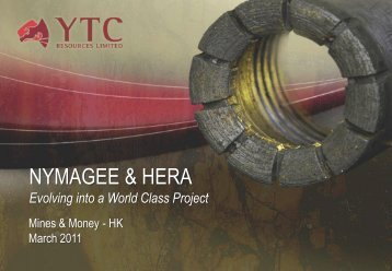 Mines & Money Hong Kong Conference ... - YTC Resources
