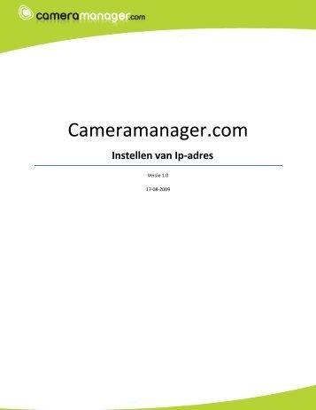 Instellen van Ip-adres - Cameramanager