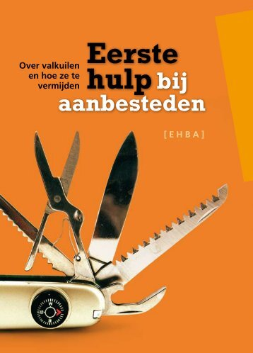 Boekje 'Eerste hulp bij aanbesteden' - Gemeente Amsterdam