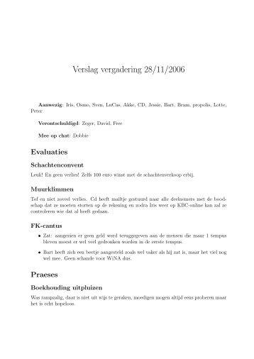 Verslag vergadering 28/11/2006 - WiNA