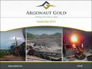 September 2013 - Argonaut Gold Inc.