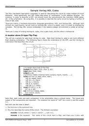 Sample Verilog HDL Codes - METU MEMS