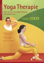 Yogatherapie - Yoga Vidya