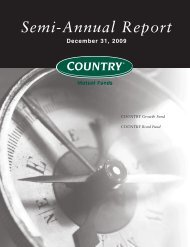 Semi-Annual Report December 31, 2009 - COUNTRY Financial