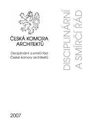 D ISC IPLIN Á RN Í A SM ÍRČ Í ŘÁ D - Česká komora architektů