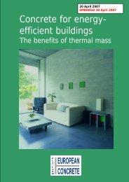 Concrete for energy- efficient buildings - Bygg uten grenser