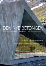 Den nye betongen - folder pr september 2013 - Bygg uten grenser