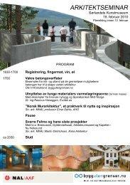 Arkitektseminar Kristiansand 180210 - Bygg uten grenser