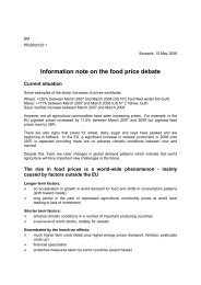 Information note on the food price debate - Forum
