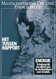 Tussenrapport, met tekst over de energiescenario's [pdf]