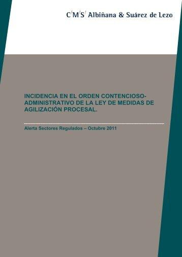 incidencia en el orden contencioso- administrativo de la ley de ...