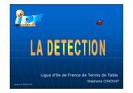La filière Détection et le programme Ile de France - Ligue d'Ile de ...
