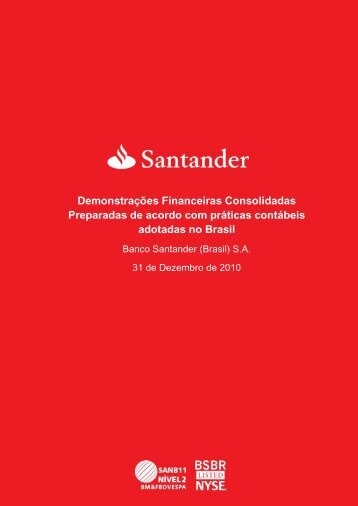 Demonstração Financeira - Santander