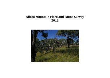 Allora Mountain Flora and Fauna Survey 2013 - GraniteNet