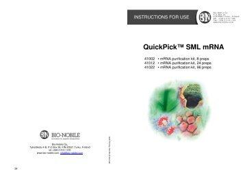 QuickPick SML mRNA Kits - Sunrise Science Products