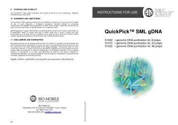 QuickPick SML gDNA Kits - Sunrise Science Products
