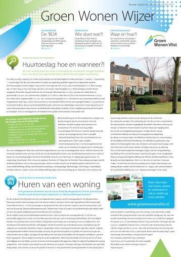 nummer 2 - winter 2011 - bijlage - Groen Wonen Vlist