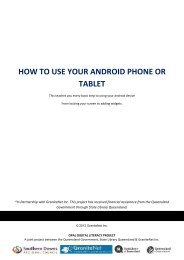 HOW TO USE YOUR ANDROID PHONE OR TABLET - GraniteNet