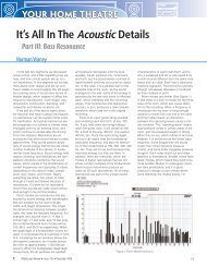 It's All In The Acoustic Details - Part III - A/V RoomService Ltd.