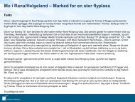Mo i Rana/Helgeland – Marked for en stor flyplass