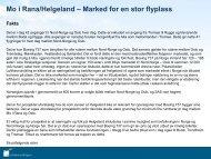 Mo i Rana/Helgeland – Marked for en stor flyplass