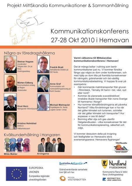 Kommunikationskonferens 27-28 Okt 2010 i Hemavan - Rana ...