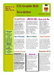 February/March 2010 Newsletter - GraniteNet