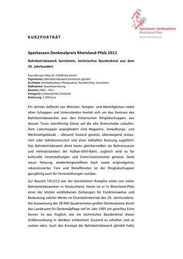 Bahnbetriebswerk Gerolstein - Auf Geschichte bauen