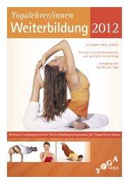 Aus- und Weiterbildungen - Yoga Vidya