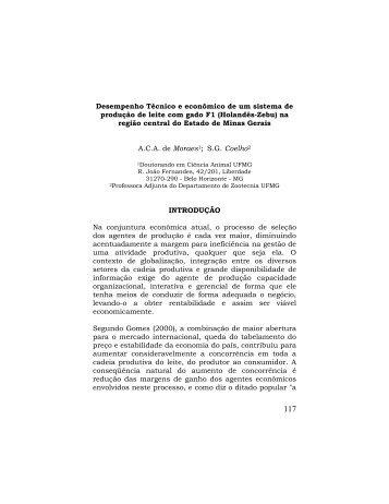 Desempenho Técnico e econômico de um sistema de produção de ...