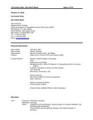 Curriculum Vitae: Karl Ulrich Mayer Page 1 of 34 ... - Yale University