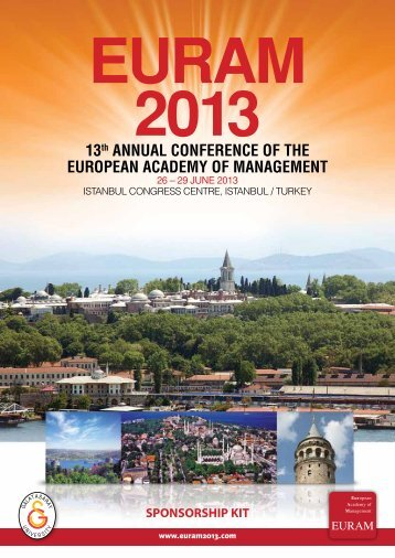 Sponsor and exhibitor opportunities - EURAM Annual Conference ...