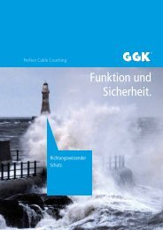Funktion und Sicherheit. - GGK Perfect Cable Coaching