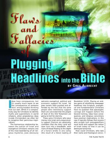 Plugging Headlines Into the Bible - Plain Truth Ministries