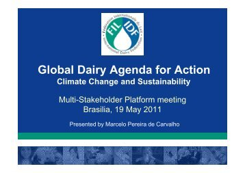 Climate Change and Sustainability - Global Agenda of Action for ...