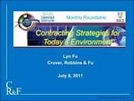 Contracting Strategies for Today's Environment - the Rice Global ...