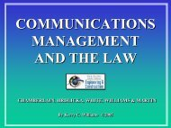 COMMUNICATIONS MANAGEMENT AND THE LAW - the Rice Global ...