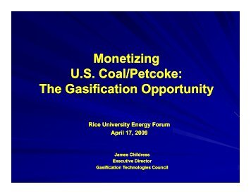 Monetizing US Coal/Petcoke - the Rice Global Engineering ...