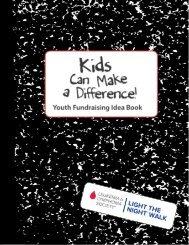 2013 Youth Fundraising Book - Light The Night Walk