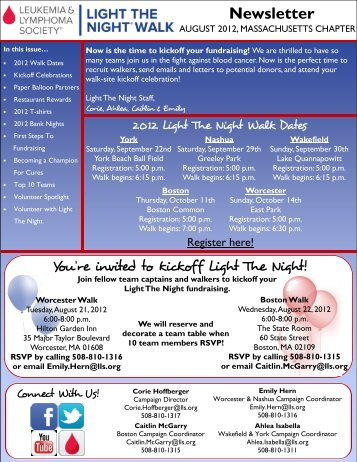 Newsletter - Light The Night Walk