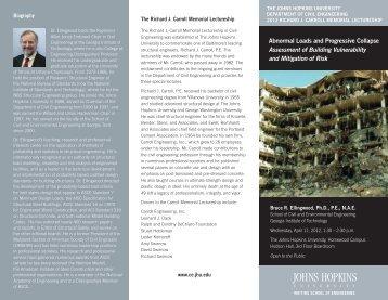 Abnormal Loads and Progressive Collapse - Johns Hopkins University