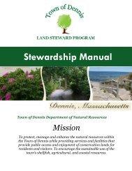 Land Steward Manual - the Town of Dennis