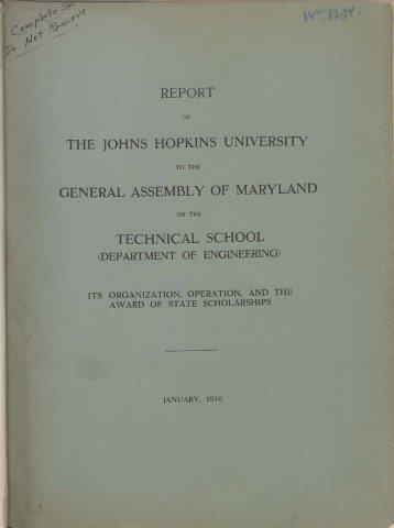 January 1916 - Johns Hopkins University