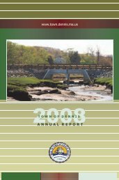 Annual Town Report - the Town of Dennis