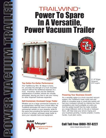power va cuum trailer - Meyer & Sons Air Duct Cleaning Equipment ...