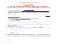 Request exemption. - Office of the Registrar - The University of ...