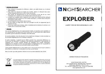 lampe torche rechargeable a led instructions d ... - Nightsearcher Ltd