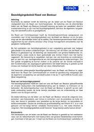 Voorstel bezoldigingsbeleid RvB 2006 - Imtech